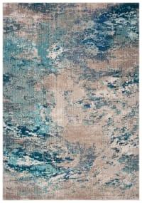 Tapis de salon contemporain bleu et gris 160x228