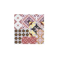 ECLECTIC - Dessous de plat en mdf carreaux de ciment multicolore