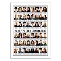 HARRY POTTER CHARACTERS -  Affiche d'art 50 x 70 cm