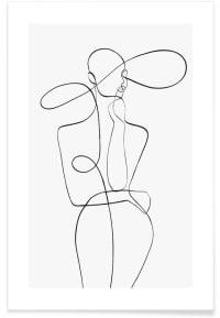 MONDAY - Affiche en Blanc & Noir/30x45