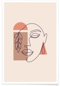 AUTUMN - Affiche en Blanc ivoire/40x60