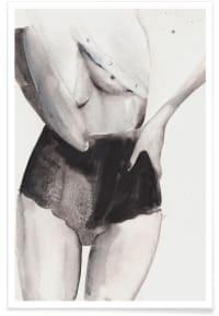 DANCE WITH ME - Affiche en Blanc & Gris/60x90
