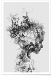 DISSOLVE ME - Affiche en Blanc & Gris/40x60