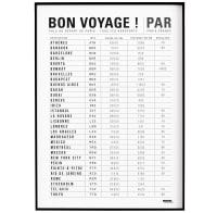Affiche d'art bon voyage ! 50 X 70 cm