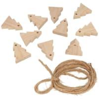 SAPINS - Guirlande 10 sapins en bois 5cm