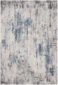 Tapis de salon contemporain gris et bleu 160x228