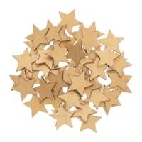 ÉTOILES - Confettis étoiles en bois dorés