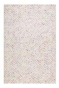 PARISO - Tapis design in/outdoor motif pastel tissé plat beige 133x200