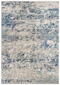 Tapis de salon contemporain gris et bleu 160x230