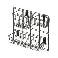 WALLTECH - Kit grille + 3 paniers 53,4x48,3cm