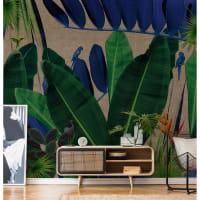 KOLIBRI - Papier peint panoramique en papier vert foncé 288x260