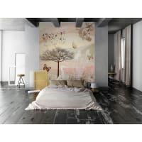 NATURA COLOR - Papier peint panoramique en papier beige clair 192x275