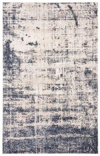 Tapis de salon contemporain or et bleu marine 154x228