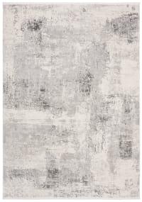 Tapis de salon contemporain gris et ivoire 121x182