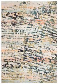 Tapis de salon contemporain beige et bleu marine 91x152