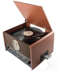 CHESTERTON - Platine vinyle station audio 5 en 1 marron naturel