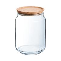 PURE JAR WOOD - Bocal en verre couvercle bois 2L