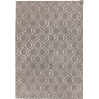 NAVEL LINES - Tapis de salon moderne  en Laine Argent 160x230 cm