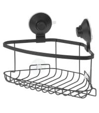 EVERETT - Panier de douche d'angle à ventouse - Noir