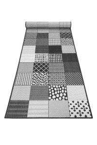CHESTER - Tapis outdoor tissé plat motif vintage 80x300