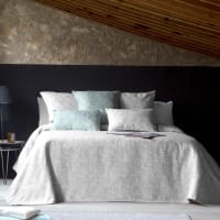 TEXTURIZE CL - Couvre lit en 100% coton 180x270 cm gris