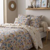 JUSTINE - Parure de lit imprimée en bambou multicolore 260x240