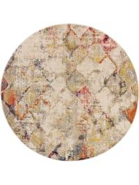 CASA - Tapis beige/multicouleur D 120 rond