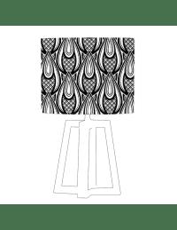 ATIRE - Abat-jour blanc imprimé noir d 45 cm