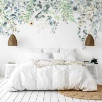 FLOWERS IN RAIN - Papier peint panoramique intissé 336x270cm