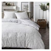 MAWIRA - Parure de lit zippée 2 personnes imprimé en Coton Gris 240x260 cm