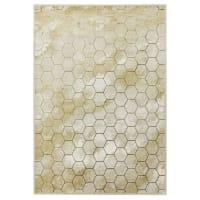 CYPHER RUCHE - Tapis tissé plat en Polyester Beige 200x290 cm
