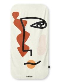 Serviette de plage éco-responsable - AUSSIE 80x160 - Orange/Blanc
