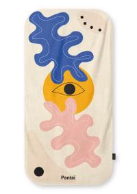 Serviette de plage éco-responsable - DIVINE 80x160 - Bleu/Orange