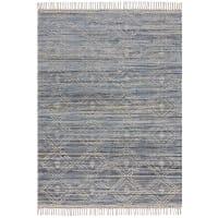 LISY - Tapis en coton en Coton Bleu 200x290 cm