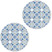 CARREAUX - Sous-verres carreaux de ciment - Lot de 2