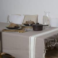 ST TROPEZ - Nappe en coton 150x250 Taupe clair