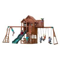 Grande aire de jeux en cèdre pour 9 enfants