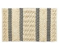 KAYA - Tapis de bain beige tissé 50x80 en coton