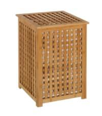 BAMBOU - Panier à linge en bambou avec sac intérieur amovible