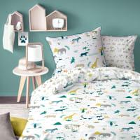 SAFARI - Parure de lit imprimée en coton 140x200 cm