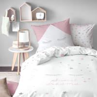 SWEET DREAMS PINK - Parure de lit imprimée en coton 140x200 cm