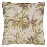 JARDIN CHINOIS - Taie d'oreiller imprimée en percale de coton beige 65x65