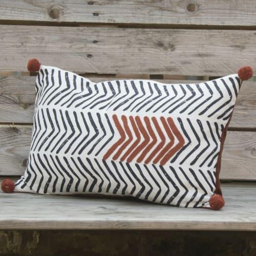 """51 cm x 30 cm 12/"""" X 20/""""marron//bronze à rayures fait main Housse de coussin eoksews"""
