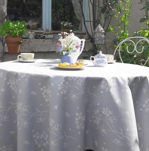 Astrance Nappe Enduite Ovale Gris 160 X 240 Cm Maisons Du Monde