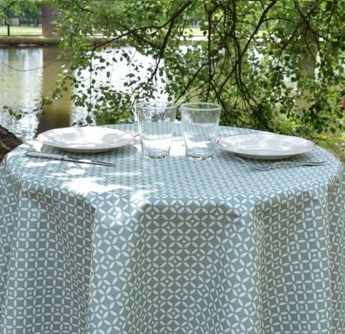 Mosaique Nappe Enduite Rectangle Vert 160 X 300 Cm Maisons Du Monde