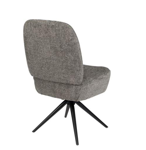 chaise design grise en tissu maisons du monde