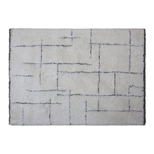 tapis berbere a motifs geometriques beige 140 x 200 maisons du monde