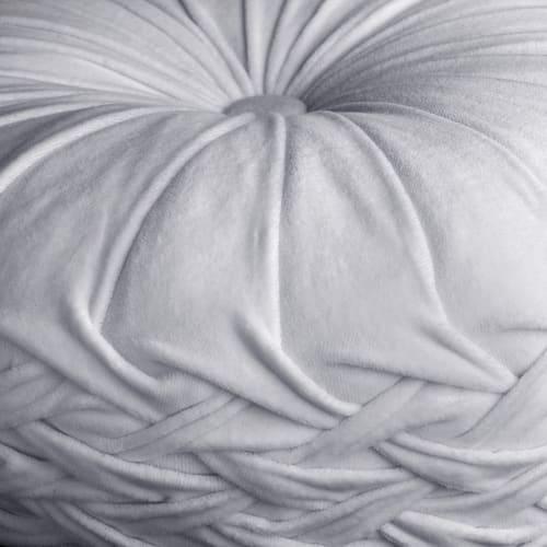 earlyad Coussin rond en velours pliss/é Coussin rond citrouille fait /à la main Coussin confortable et doux Coussin de sol d/écoratif pour canap/é salon canap/é-lit